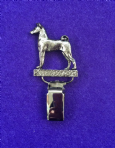 Dog Show Breed Ring Number Clip - Basenji - FULL BODY Silver or Gold Style